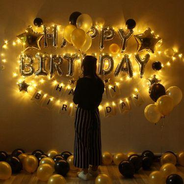 成人生日氣球生日蠟燭裝飾求婚布置套餐生日派對 ins網紅臥室布置  聖誕節禮物