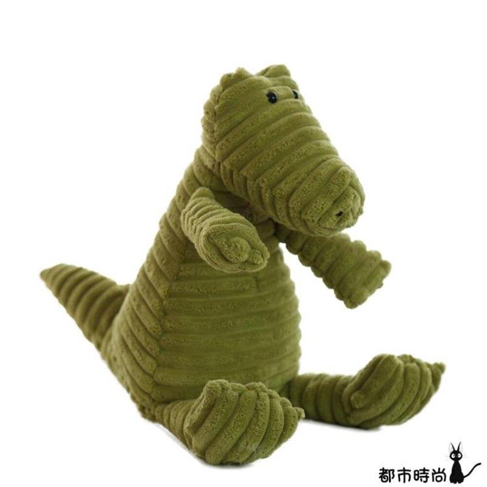 公仔 燈芯絨條紋玩偶兔子熊毛絨玩具寶寶睡覺超軟安撫娃娃兒童禮物 - 都市時尚