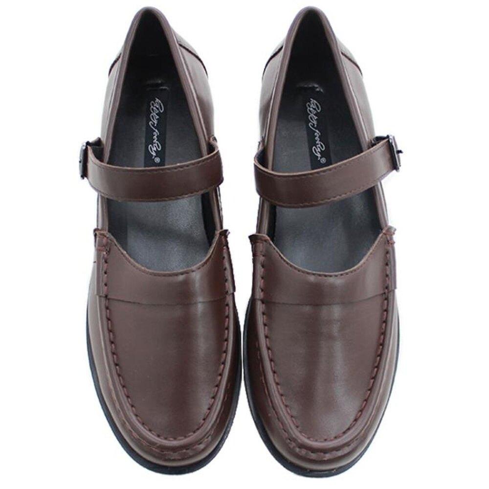 韓版ins 圓頭低跟中口設計 學院風純色英倫單鞋 小皮鞋女「時尚彩虹屋」