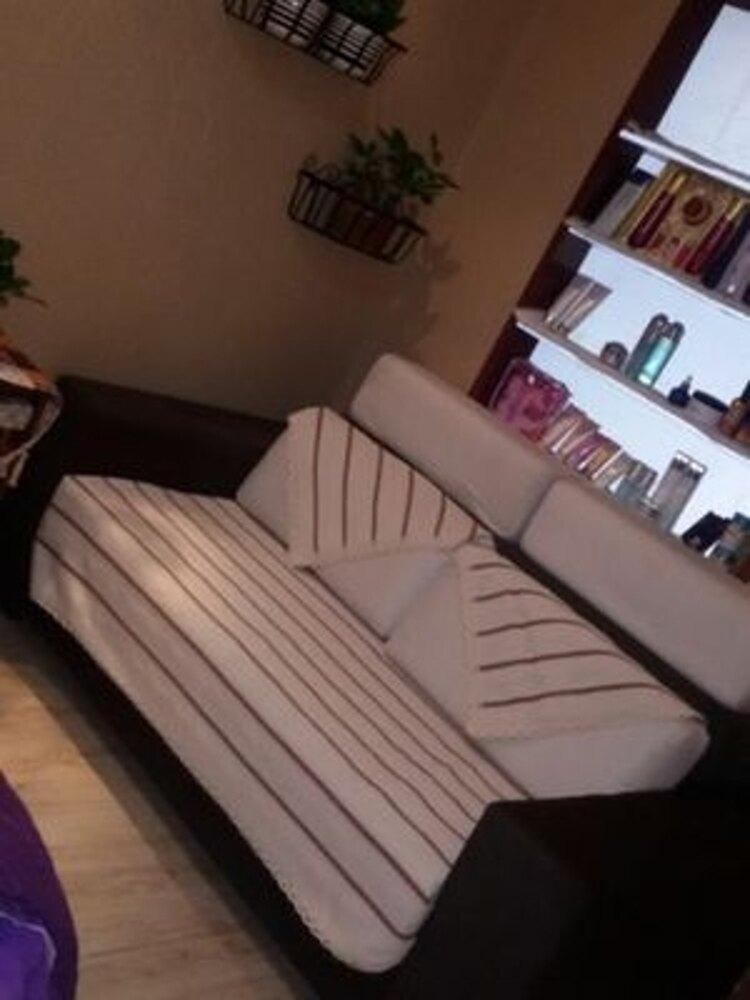 ✤宜家✤時尚簡約溫暖四季條紋沙發巾 四季沙發墊防滑沙發套6 (70*150cm)