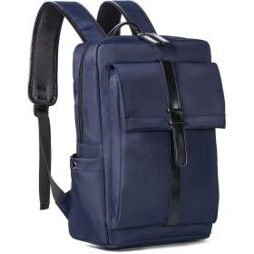 ビジネスラップトップバッグバックパックファッションバックパックカジュアルバッグ男性送信ボーイフレンド大容量-ブルー