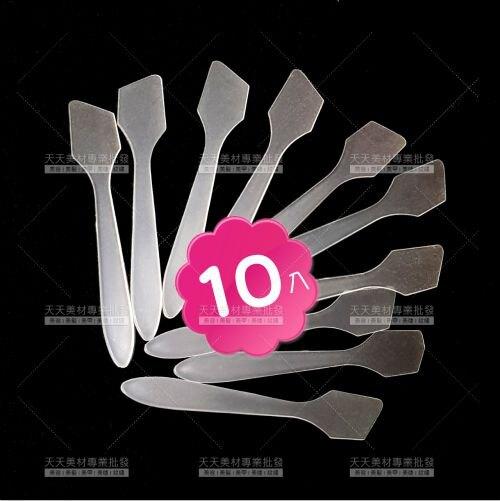 乳霜專用(透明斜角)美容挖棒-10支(V27AEE)攪拌調棒[56975]