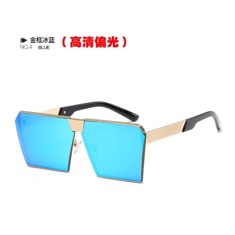 太陽眼鏡 方形偏光太陽鏡時尚男士眼鏡墨鏡