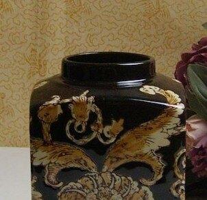 【協貿國際】歐美原單陶瓷儲物罐裝飾器皿
