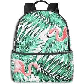 カジュアルバックパックファッションバックパック大容量学校レジャー旅行アウトドアビジネスワークコンフォートユニセックス 明るい熱帯ジャングル