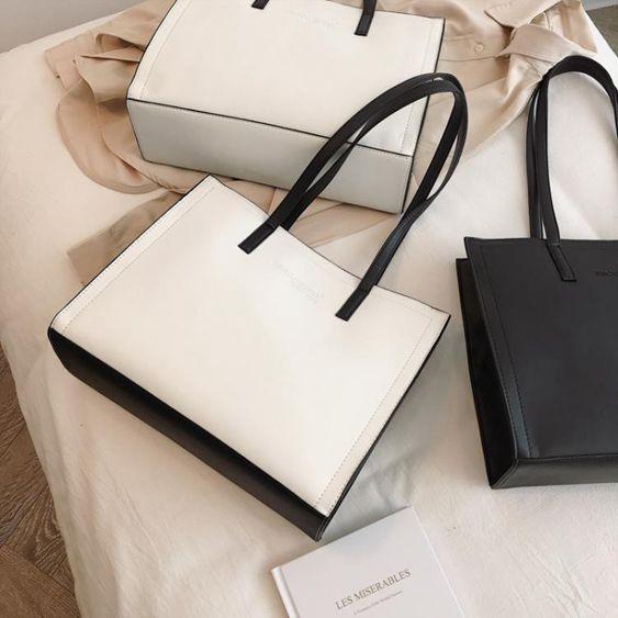 托特包包包女包新款2019時尚托特包簡約百搭手提包大容量通勤公文單肩包