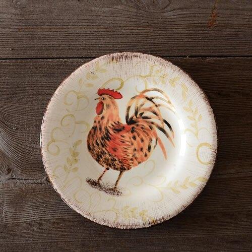 手繪陶瓷|8.5寸西餐盤|