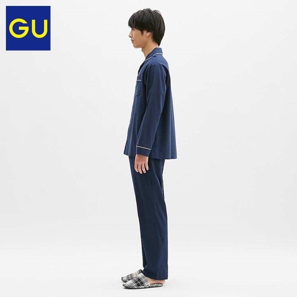 GU男裝睡衣 年春季睡衣套裝簡約舒適297839極優 DF 清涼一夏钜惠