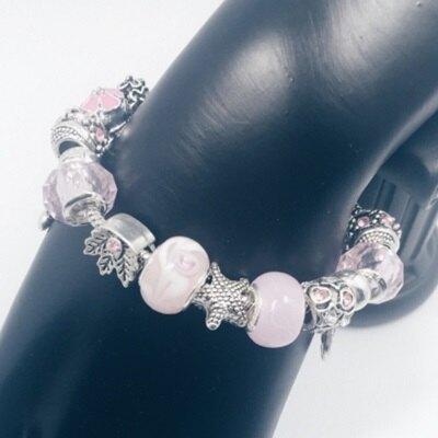 ☆串珠手鍊 手環-水晶琉璃飾品粉色甜美公主風時尚女配件73bo38【獨家進口】【米蘭精品】
