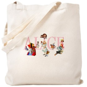CafePress-アリスアンドフレンズ-ナチュラルキャンバストートバッグ、布製ショッピングバッグ