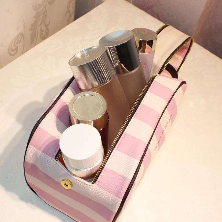 收納包雙拉錬大容量化妝包洗漱包便攜手拿隨身旅行 化妝包  居家物語