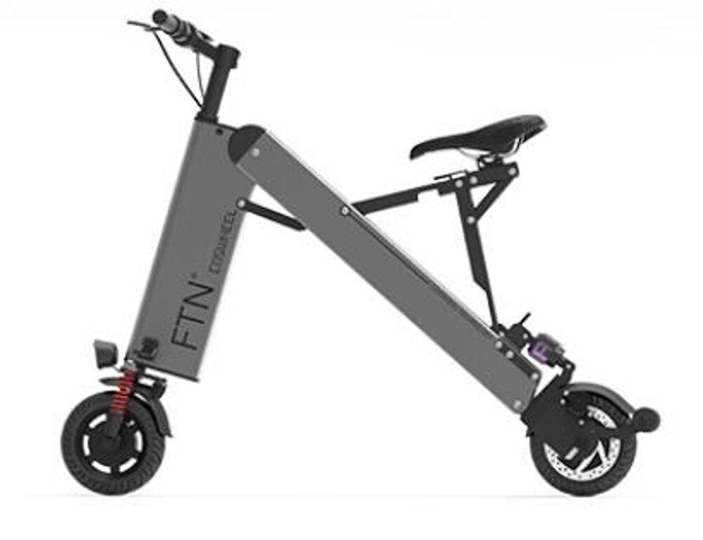 電動車 迷妳折疊式電動自行車小型電瓶車男女超輕便攜鋰電成人代步車 MKS韓菲兒 聖誕節禮物
