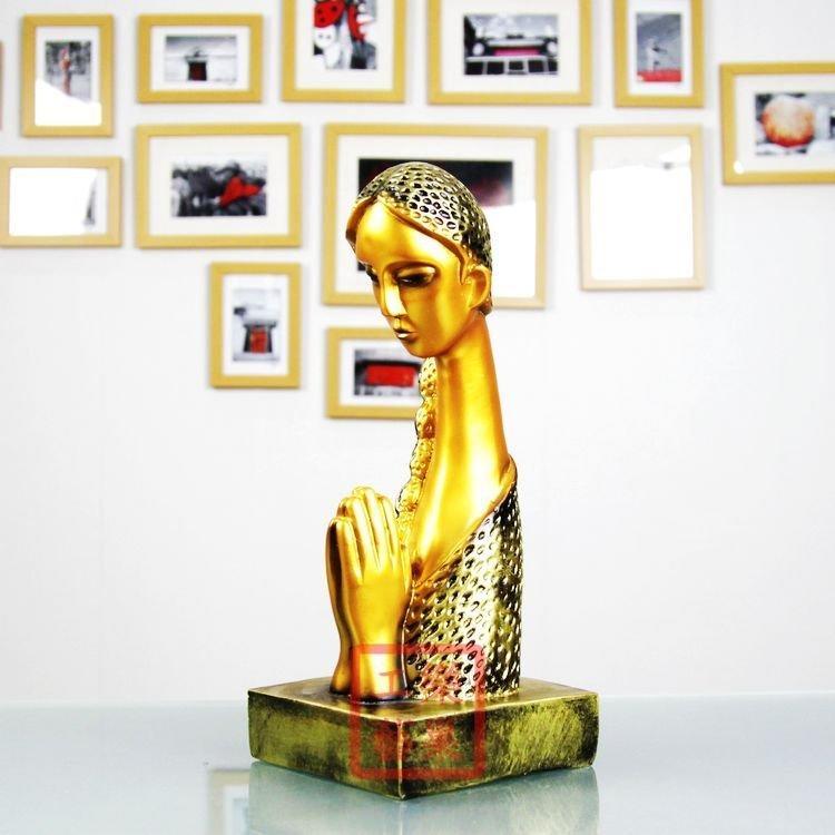 裝飾品客廳擺件 傣族祈福女孩 泰家少數民族人物擺件