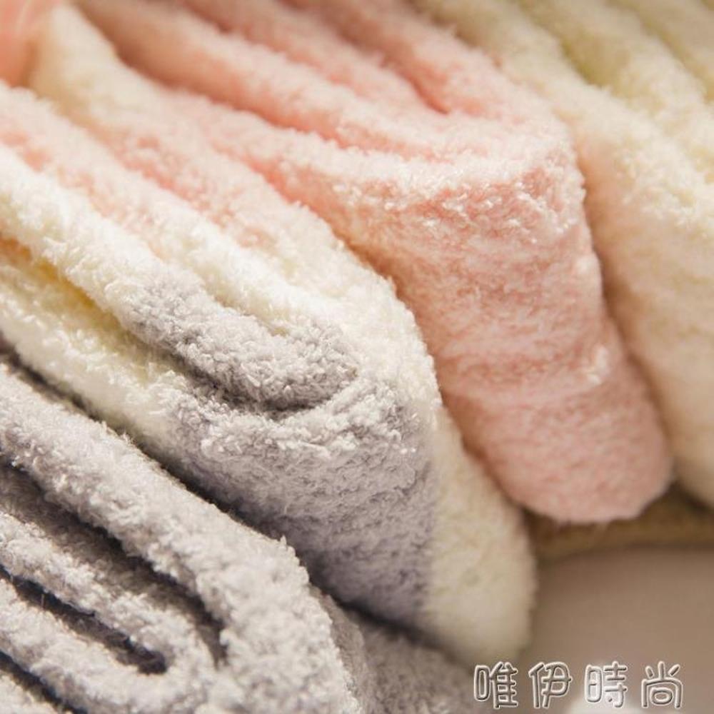 長襪 地板襪女秋冬款珊瑚絨家居睡眠襪長襪加厚保暖月子襪子女秋中筒襪 coco衣巷