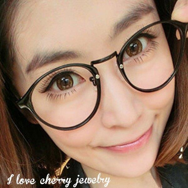 小圓框架清新風格造型眼鏡 066【櫻桃飾品】【066】