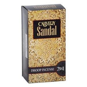 [綺異館] 印度香 檀香特調香 塔香+柱香 2合1 50入量販 CAUVERY Sandal 2 in 1 售印度皂