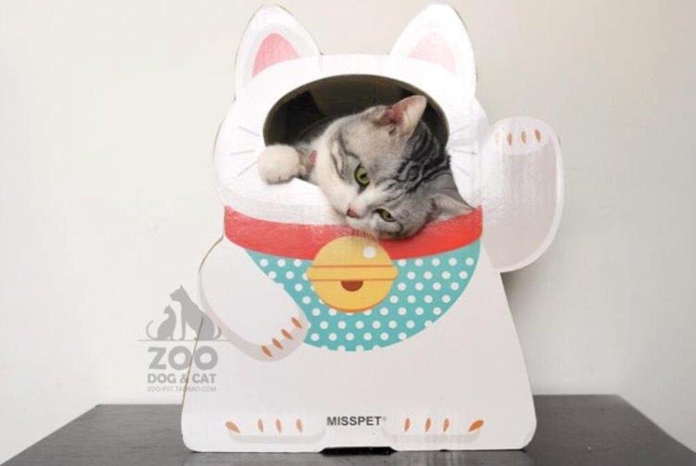 招財貓抓板貓窩貓咪用品玩具瓦楞紙房子磨爪器 名創家居館DF
