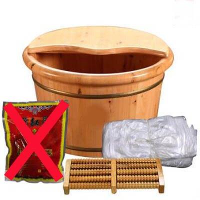 【香柏木桶-26cm高雙邊帶蓋+足浴袋+按摩珠+萬向輪-1套/組】家用足浴桶-5670715