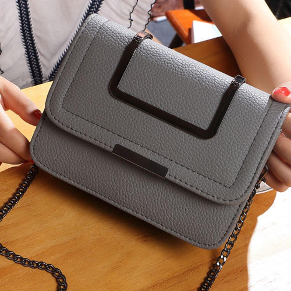 ✤宜家✤【WK16110735】時尚氣質手拿包單肩包 方包(灰)