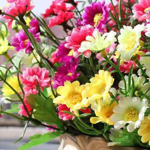 圓點菊 絹花 仿真花 人造花 家居裝飾品特價3束