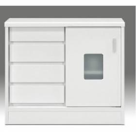 マルチキャビネット シェルフ 戸棚 (整理 収納 棚/キッチン 台所 整理 収納 ) 幅80cm×奥行30cm 引き戸/引き出し整理 収納付き 『ランク