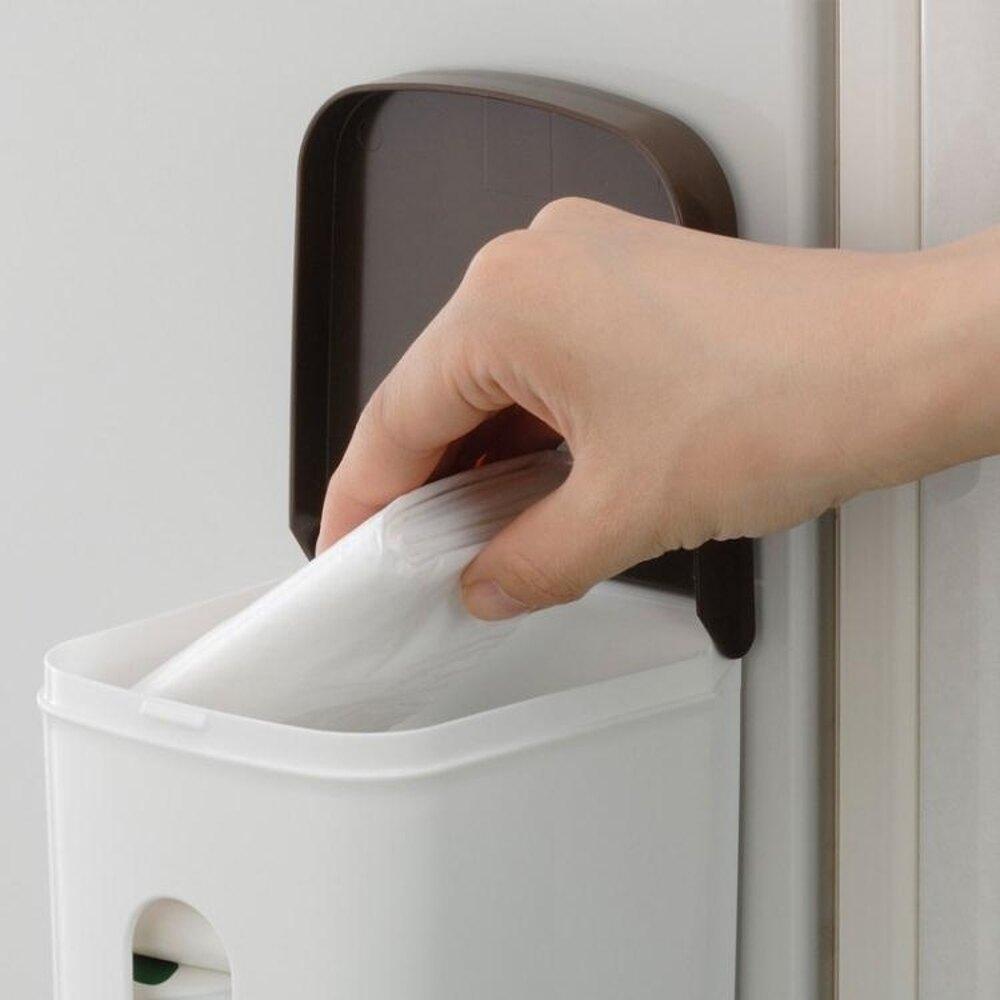 日本廚房置物架塑料袋收納架免打孔磁鐵掛架冰箱側掛壁掛儲物架 年會尾牙禮物