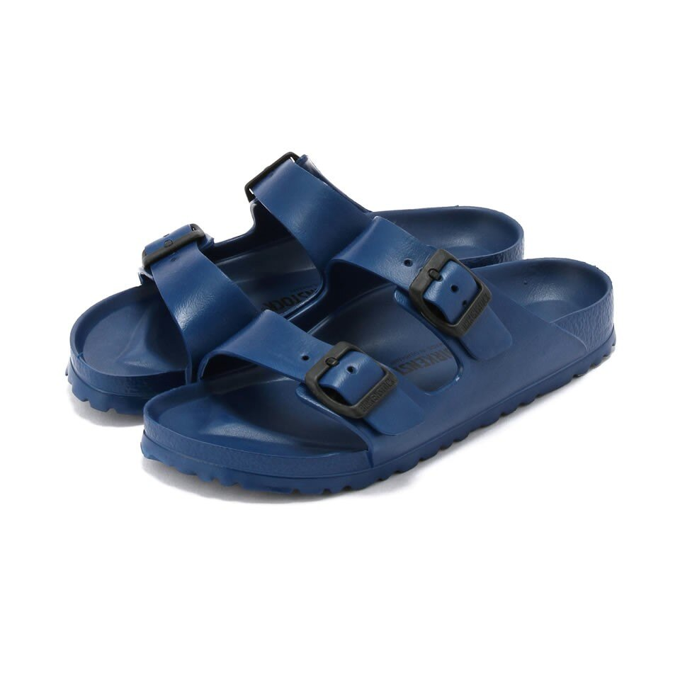 宜蘭勃肯 BIRKENSTOCK 防水EVA膠鞋 ARIZONA 兩條 基本色 海軍藍