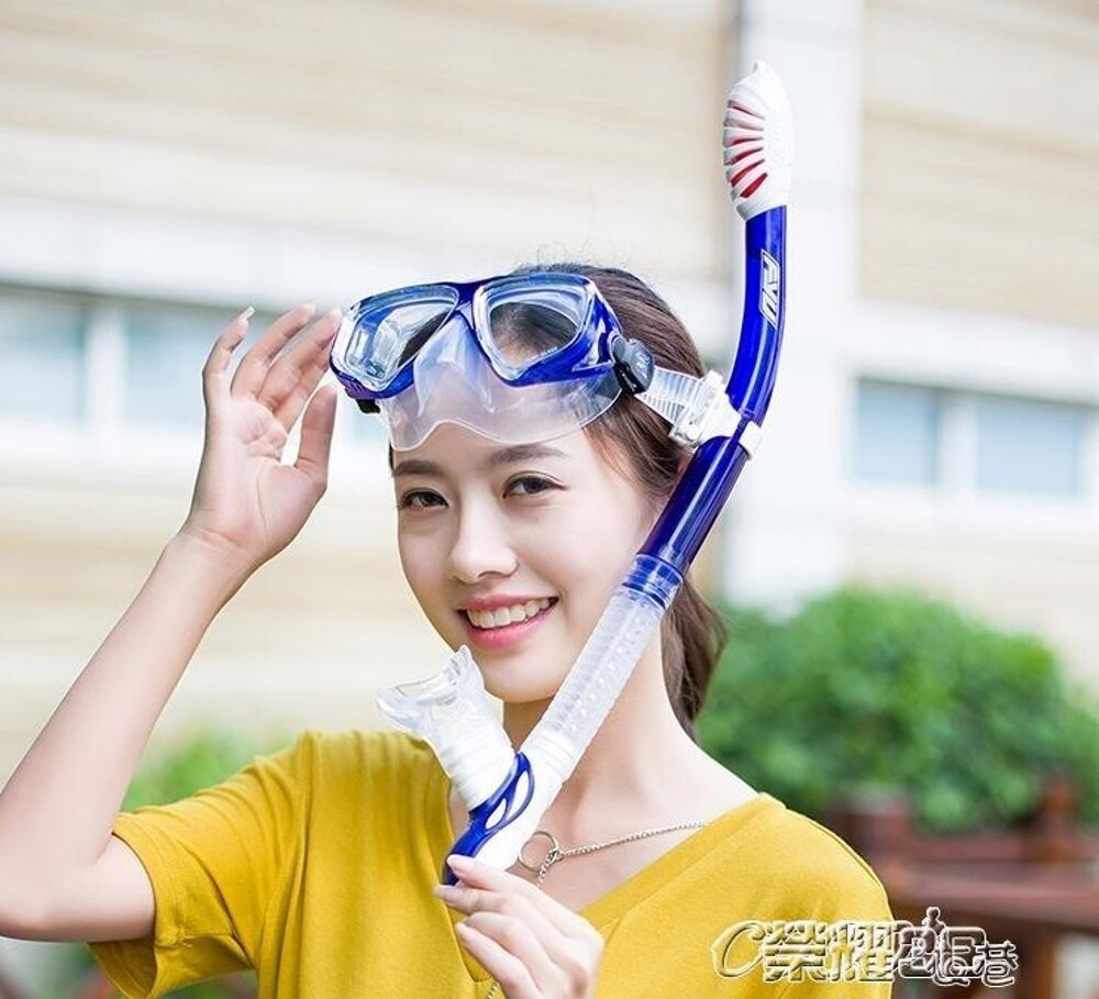 領券下定更優惠 潛水鏡 防霧成人兒童面罩眼鏡裝備套裝全乾式呼吸管 潛水鏡