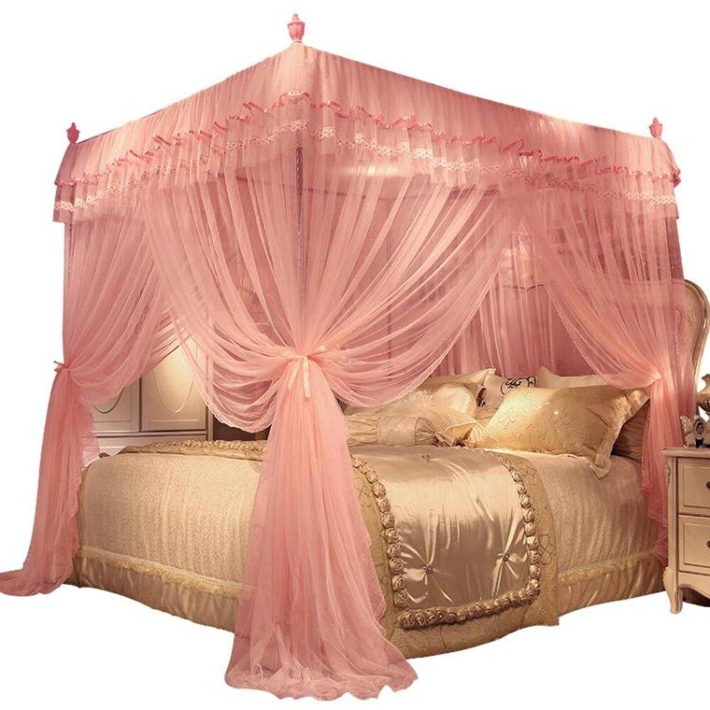 新款 公主風 網紅家用加密1.8m1.5蚊帳1.8x2.0米床女 618年中鉅惠
