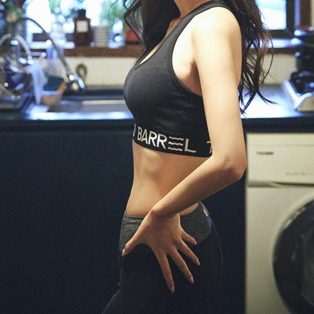 運動胸衣 高強度運動文胸字母防震內衣胸衣聚攏定型背心瑜伽跑步健身bra女【韓國時尚週】 尾牙年會禮物