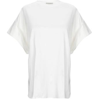 《セール開催中》BALLANTYNE レディース T シャツ ホワイト 38 コットン 100%