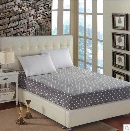 冬暖夏涼家紡 超柔保暖法萊絨床笠 純色波點床罩