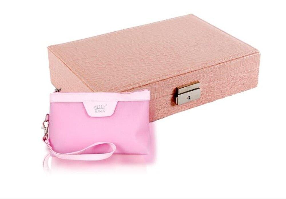 首飾盒 飾品盒首飾盒收納盒韓國公主歐式簡約清新耳環盒帶鎖項鏈戒指整理  瑪麗蘇