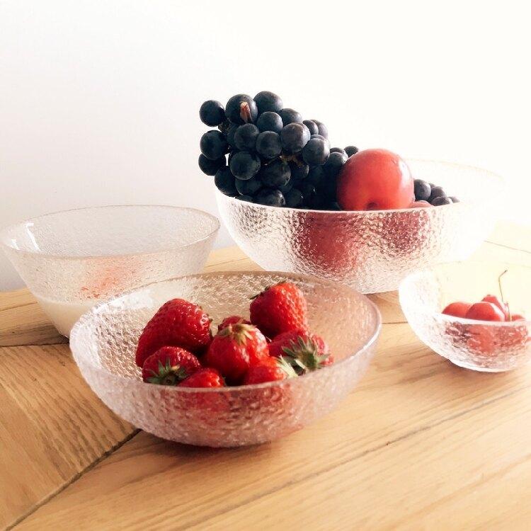 [超豐國際]歐式大號水晶玻璃果盤 現代客廳創意家用 沙拉碗糖
