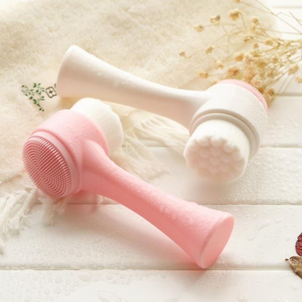 3D洗臉刷雙面硅膠潔面儀清潔手動軟毛潔面刷洗臉刷倩 新春鉅惠