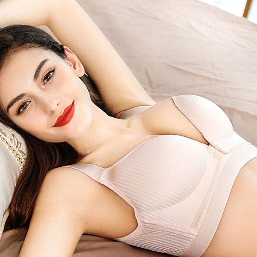 孕婦內衣胸罩全純棉哺乳文胸懷孕期防下垂聚攏有型喂奶上托無鋼圈 年貨節預購