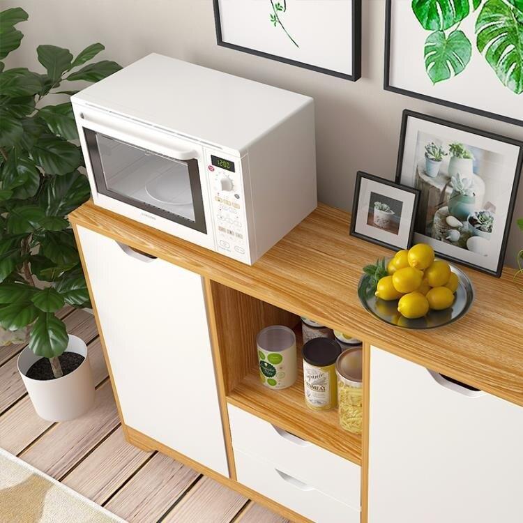 廚房餐邊櫃家用簡易櫥櫃多功能碗櫃客廳茶水櫃子儲物邊櫃置物架QM 清涼一夏钜惠