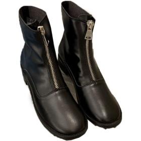 [G7LZ] ブーツ レディース ショートブーツ ショート丈 ブーツ 22.5cm 内ボア ボア付け ミドルヒール 美脚 ブーツ 太ヒール ハイヒール スクエアトゥ カジュアルシューズ 秋冬 ブラック 厚底 3.5cmヒール クリスマス22.0 23.0