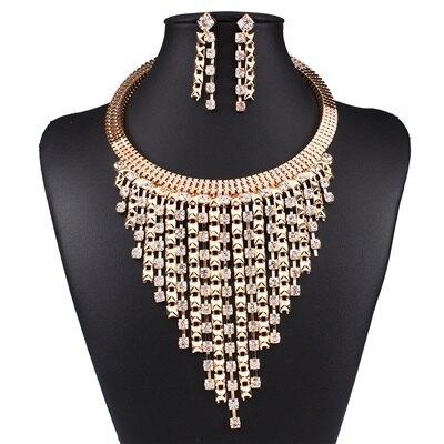 項鍊鍍18K金毛衣鍊套裝-高貴奢華鑲鑽流蘇女飾品73nt22【獨家進口】【米蘭精品】