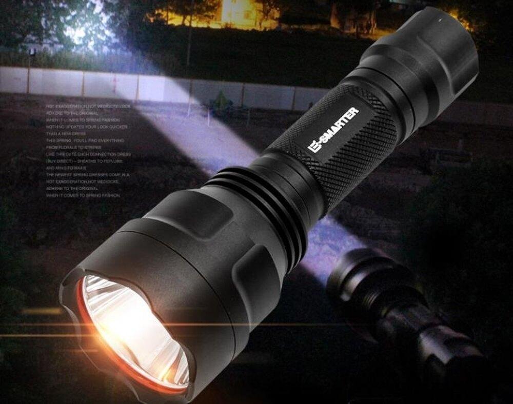 手電筒 手電筒強光可充電超亮遠射5000戶外家用小便攜多功能le氙氣燈    全館八五折