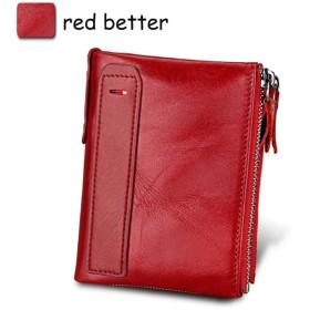 LEIHALAメンズ財布 女の子のための二重ジッパーの女性の財布の帯出登録者の女性の財布型の硬貨のホールダーの札入れ