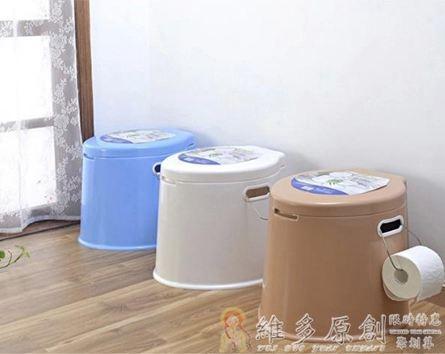 馬桶蓋 加厚加高可行動馬桶成人孕婦便攜尿盆老人座便器座便器塑膠盂DF 免運維多