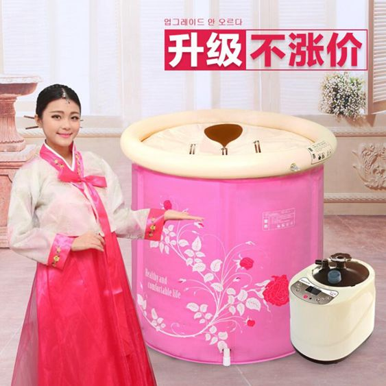 220V蒸汽桑拿浴箱家用汗蒸箱家庭桑拿房薰蒸機泡澡汗蒸房單人滿月