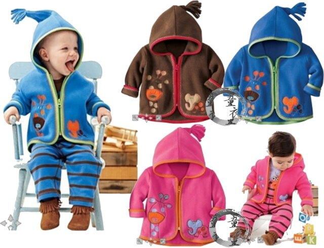 童衣圓 【AD040】AD40動物連帽外套 小童 厚棉 綿絨 Fleece 保暖 含帽 造型 小外套 小外套-80~120