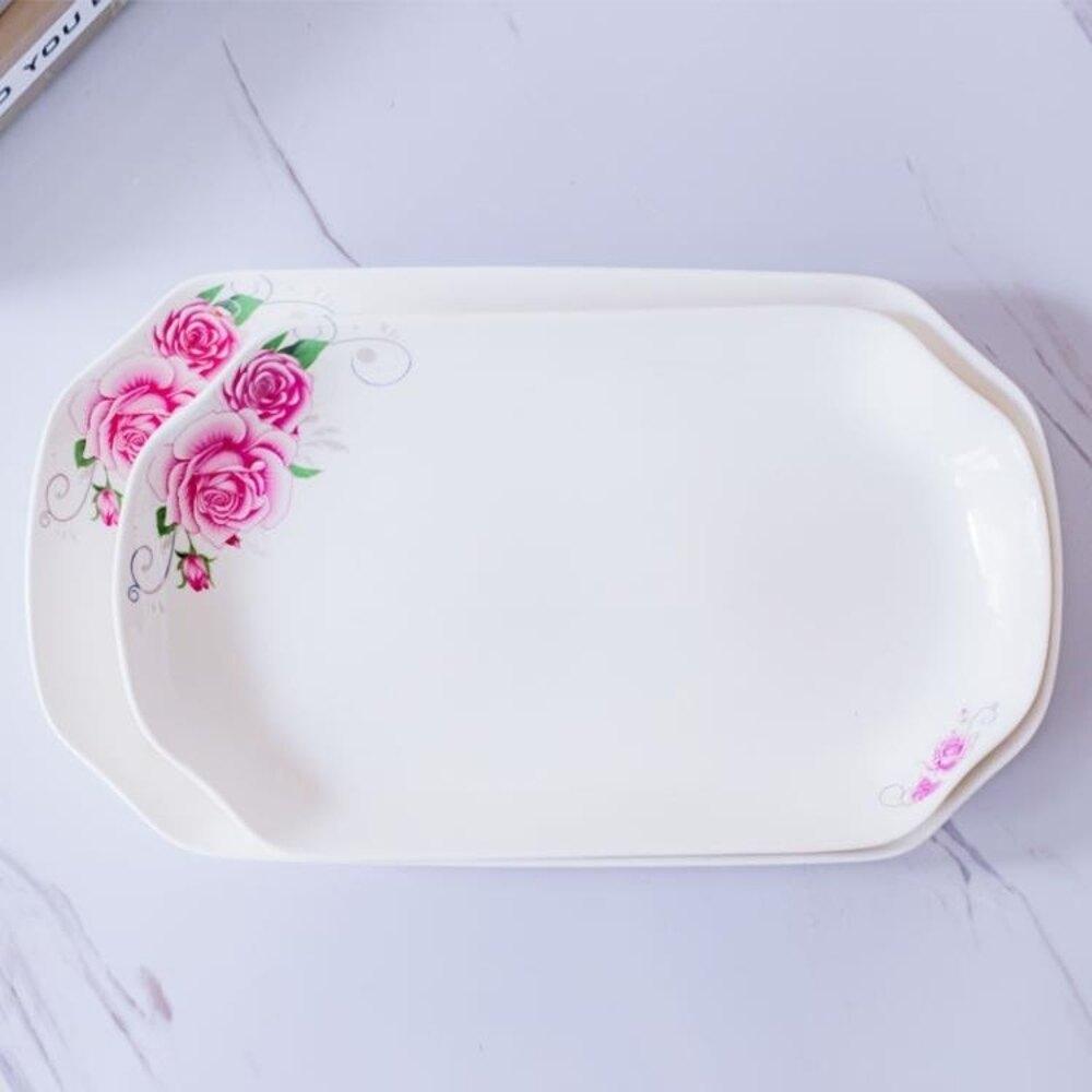盤子只大小號 陶瓷菜盤 家用創意微波餐盤套裝蒸魚盤子      都市時尚