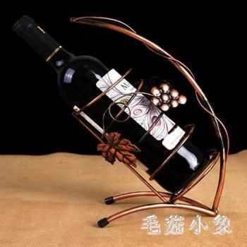 歐式創意紅酒架擺件/鐵藝個性酒瓶架/復古酒架家用擺件