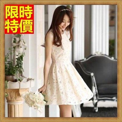 無袖洋裝女裙子-提花蕾絲時尚精美連身裙67m9【獨家進口】【米蘭精品】