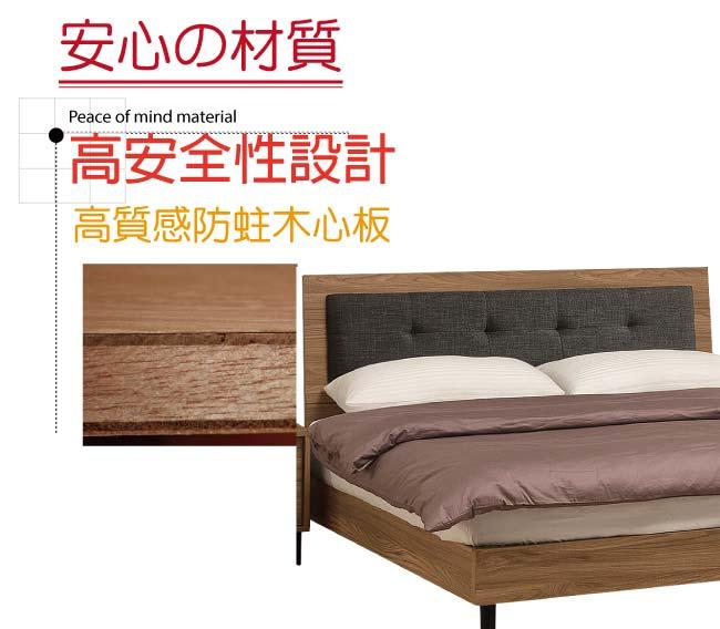 【綠家居】藍柏蒂 時尚5尺棉麻布床頭片(兩色可選+不含床底)