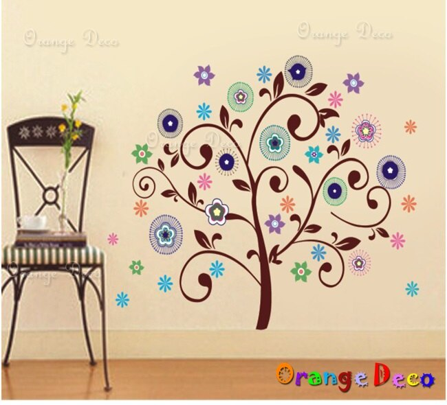煙火樹 DIY組合壁貼 牆貼 壁紙 無痕壁貼 室內設計 裝潢 裝飾佈置【橘果設計】