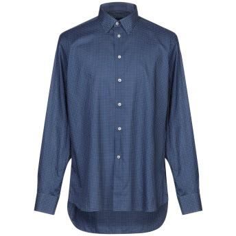 《セール開催中》ALTEA メンズ シャツ ダークブルー 44 コットン 100%